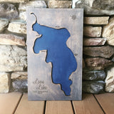 Bead Lake, Washington - Custom Engraved 3-D Wood Map Wall Hanging