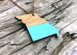 Missouri State Wood Necklace