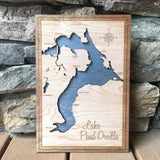 Pend Oreille, Idaho Custom Engraved 3-D Wood Map Wall Hanging