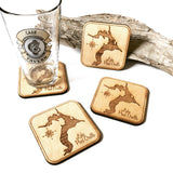 St. Joe River Idaho Wood Coaster