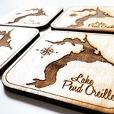 Lake Pend Oreille Wood Coaster