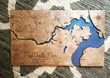 "Pend Oreille River and Lake Customized 16x20"" Map, Idaho Engraved Map"
