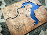 "Pend Oreille River 20x30"" Map, Idaho Engraved Map"