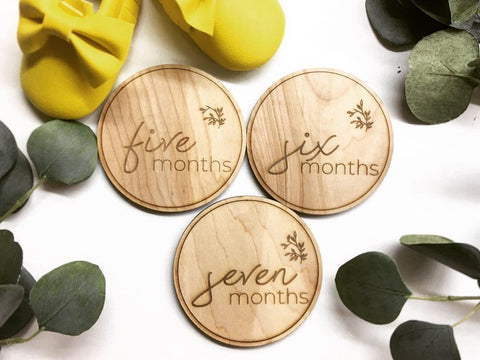 Growing Branch | Round Baby Monthly Milestone Discs - SET OF 12