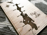 Single Layer Engraved Priest Lake, Idaho Wall Decor Sign