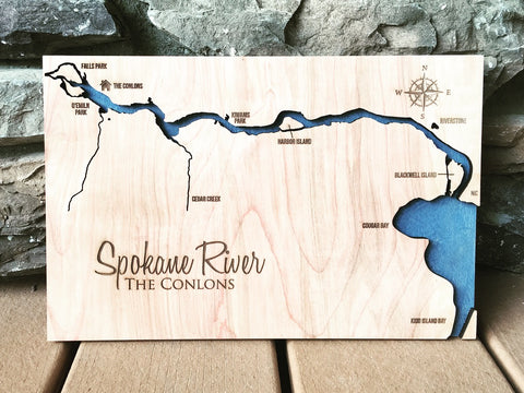 Spokane River - Post Falls/Coeur D'Alene Map