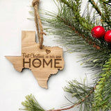 Texas Wood Christmas Ornament - First Christmas in our new HOME