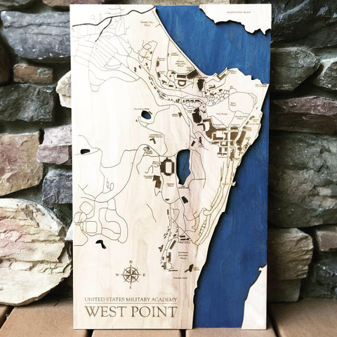 West Point New York Wood Campus Map