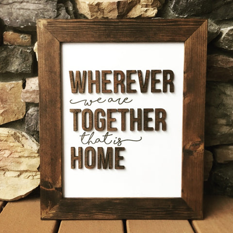 wherever we are together that is home