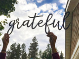 Grateful - Custom Cursive Word Cutout