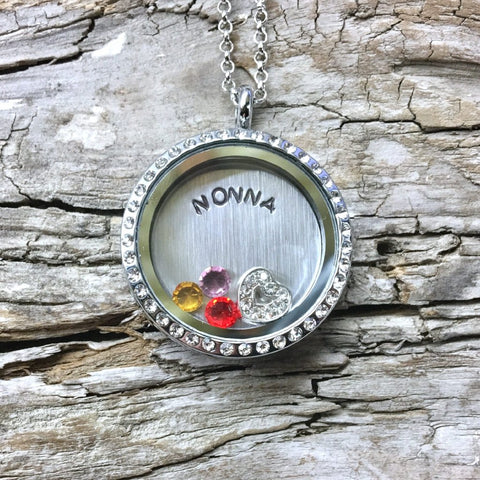 Personalized Birthstone Locket