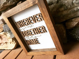 Love the people God gave you - 3-D Engraved Sign