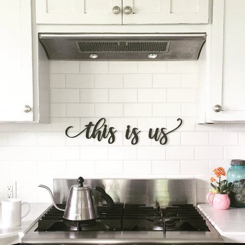this is us word sign
