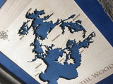 Canyon Lake, Ontario Canada - Custom Engraved 3-D Wood Map Wall Hanging