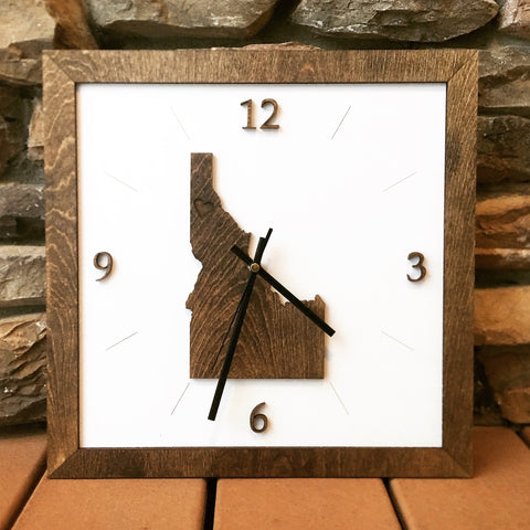 Idaho Clock - Square - Choose from Two Styles