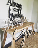 Great is thy Faithfulness - Cursive Word Cutout Sign