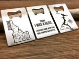 Funny Beer Quote Stainless Steel Credit Card Sized Bottle Opener