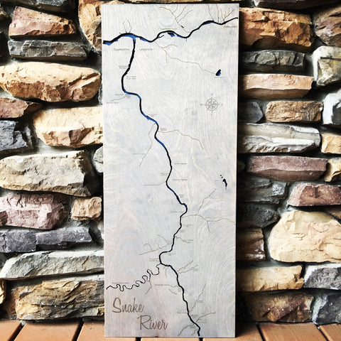 "Snake River Idaho - 12x30"" - Wood River Art"