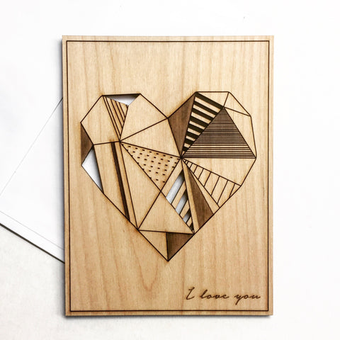 Wood Greeting Card - Unique Keepsake Stationery