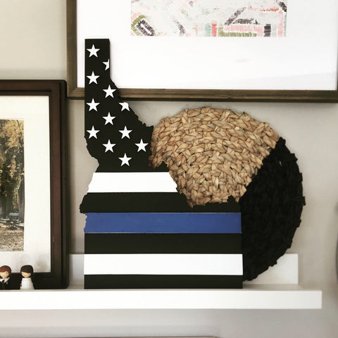 Thin Blue Line - Idaho 3-Dimensional Flag - 10% of all sales donated to Officer Down Memorial Page