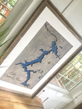 CDA Lake Coeur D'Alene, Idaho Custom Engraved 3-D Wood Map Wall Hanging