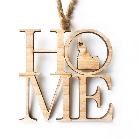 Home Idaho Wood Ornament