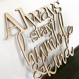 Oh Come let us adore Him - word cutout cursive sign