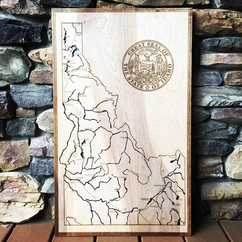 State of Idaho 3-D Engraved Map