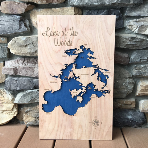 lake of the woods canada map