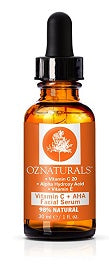 **New OZ Naturals | Vitamin C + AHA Facial Serum