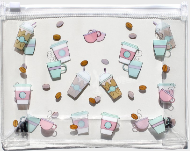 AOA | Clear Makeup Pouch - Coffee