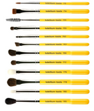 Bdellium Tools |  Studio Line, Eyes Brush Set and Pouch, 12 Pc Set