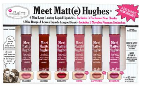 **NEW The Balm | Meet Matte Hughes® -- Set of 6 Mini Long-Lasting Liquid Lipsticks Volume 3