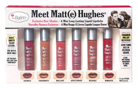**NEW The Balm | Meet Matte Hughes® Set of 6 Mini Long-Lasting Liquid lipsticks (Volume 2)