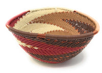 Fair Trade Zulu Telephone Wire Baskets from South Africa - Small Triangle Desert