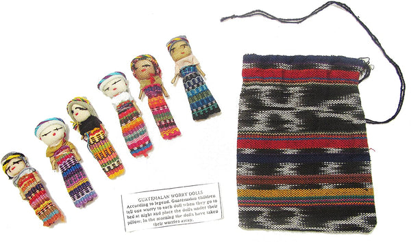 Worry Dolls Six Large with Pouch
