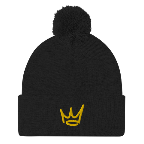 Young King - Crown Only - Pom-Pom Beanie