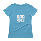 GOD is for me Ladies' Scoopneck T-Shirt