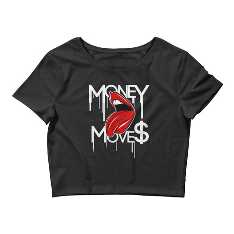 MONEY MOVES Women's Crop Tee