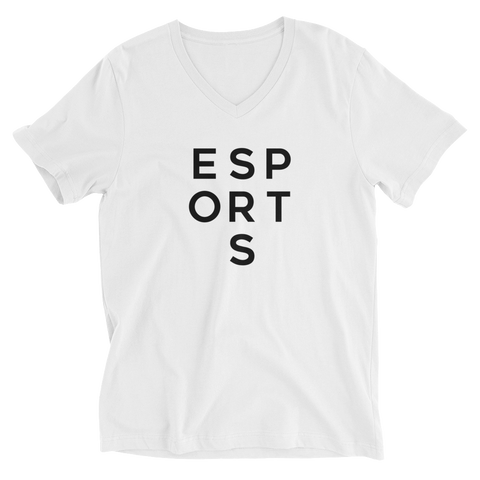 ESPORTS - Unisex Short Sleeve V-Neck T-Shirt