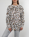 Brunette the Label White Leopard Big Sister Crew