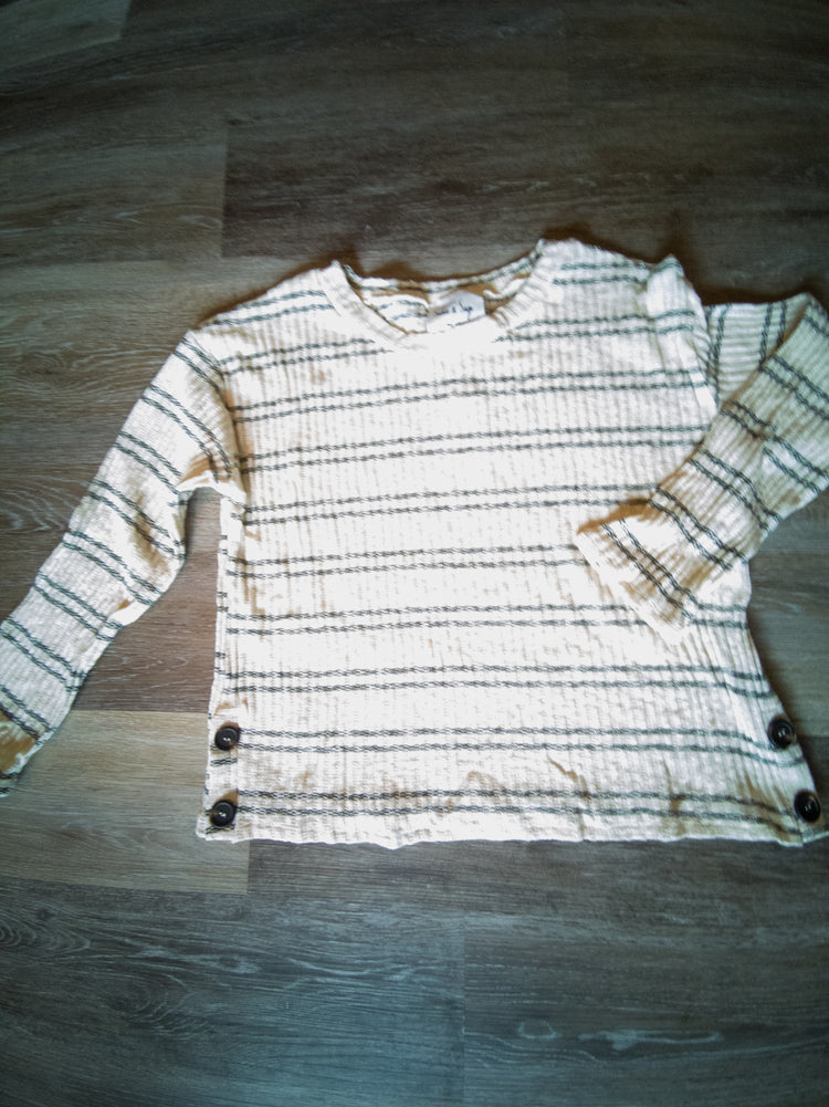 Sadie & Sage Aashi striped long sleeved knit
