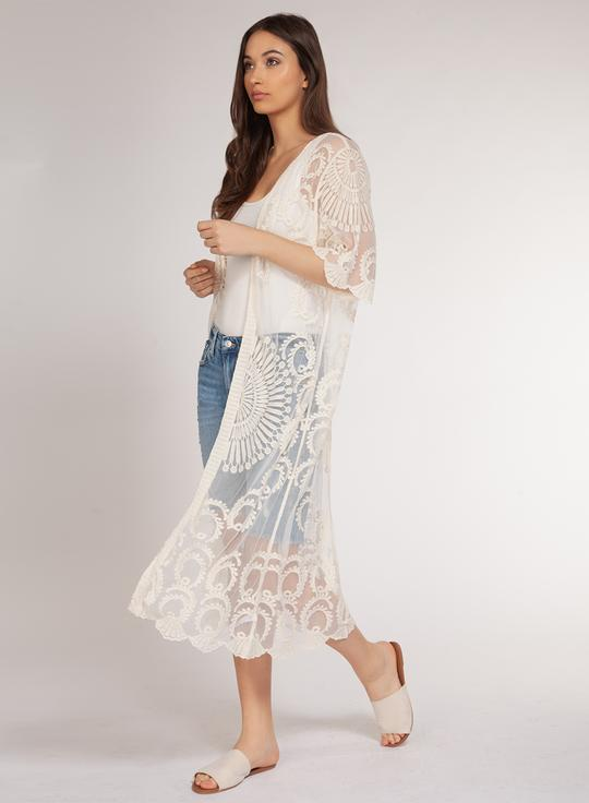 Dex+ Ivory Lace Duster