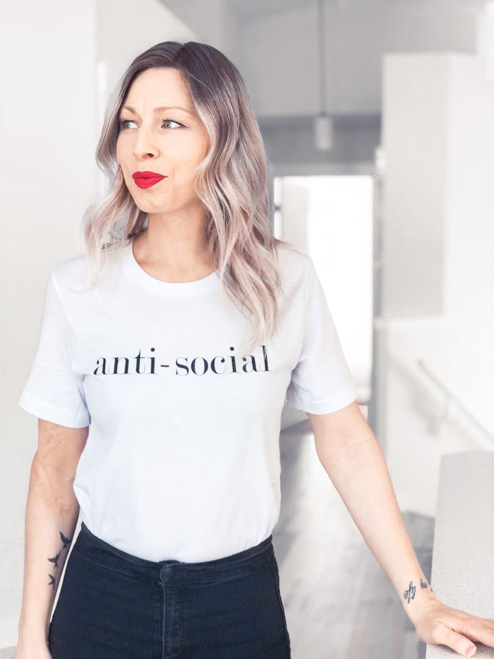 Blonde Ambition ANTI-SOCIAL Tee