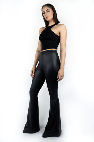 The Leather Flare Pant