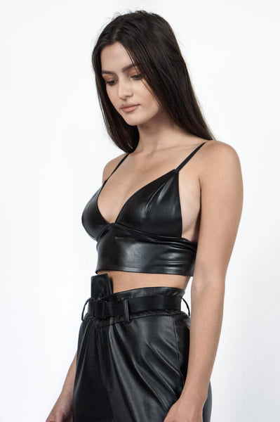 The Leather Bralette