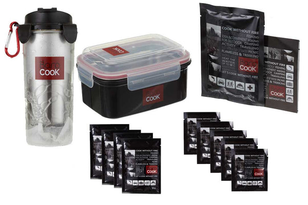 Basic Thermal Cooking Set with Personal Pot & Thermal Thermos and Heat Packs
