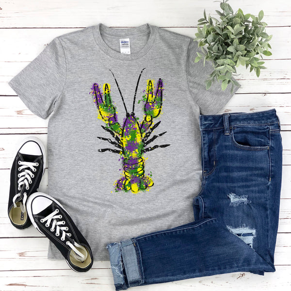 Mardi Gras Shirt, Mardi Gras Crawfish T-Shirt