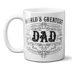 Ceramic Coffee Mug Worlds Greatest Dad with Custom Established Date