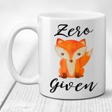 Ceramic Coffee Mug Zero Fox Given Funny Cup
